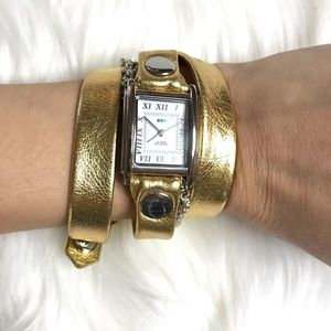 La Mer Collections Wrap Watch Gold